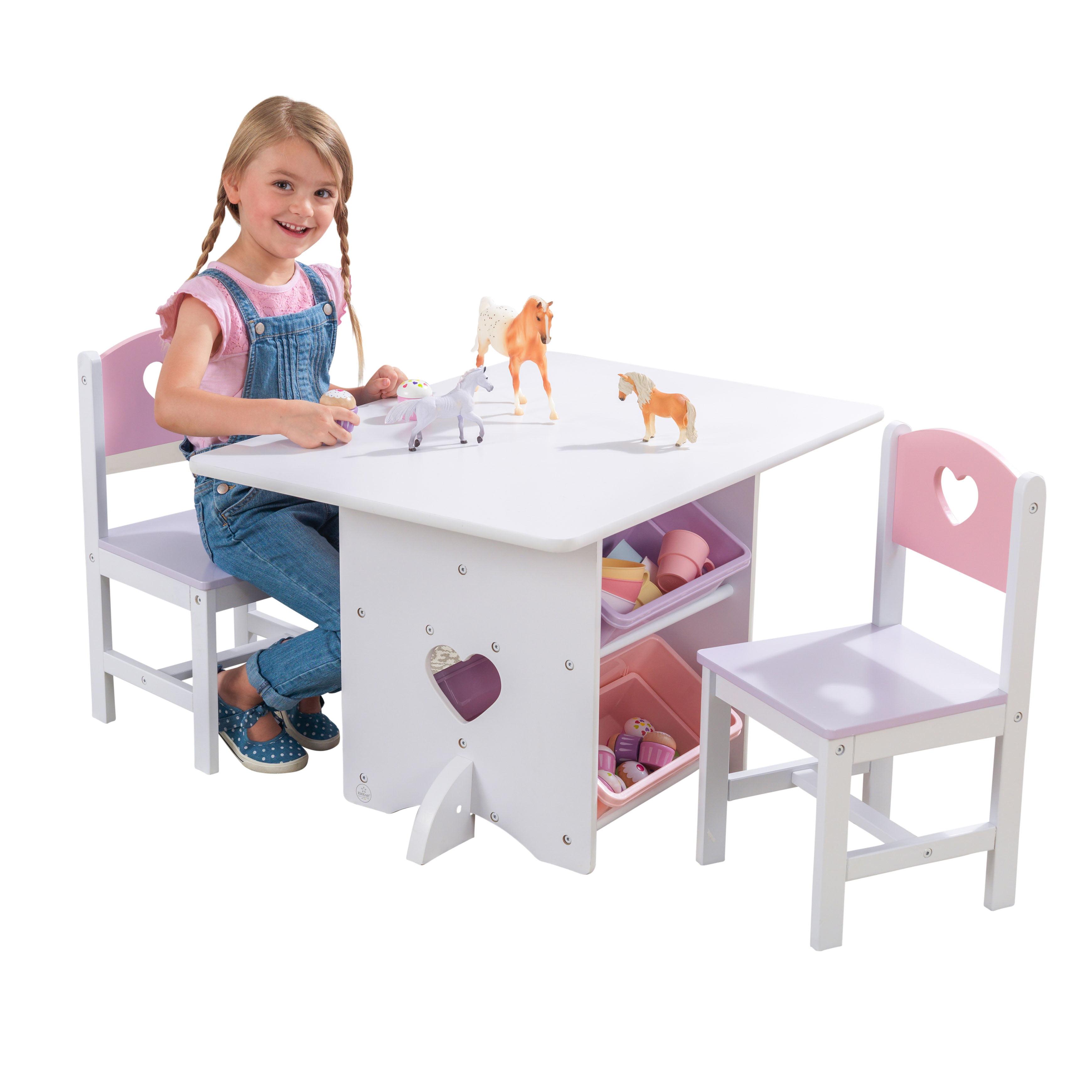 kidkraft heart table & chair set - walmart