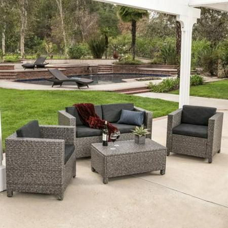 Pesa Grey Outdoor Wicker Sofa Set