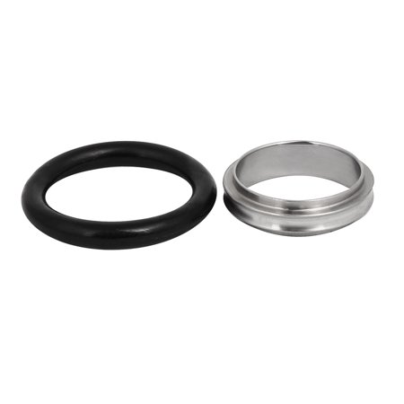 KF25 304 Stainless Steel Vacuum Fittings Flange Centric Centering Ring O-Ring - image 1 of 2