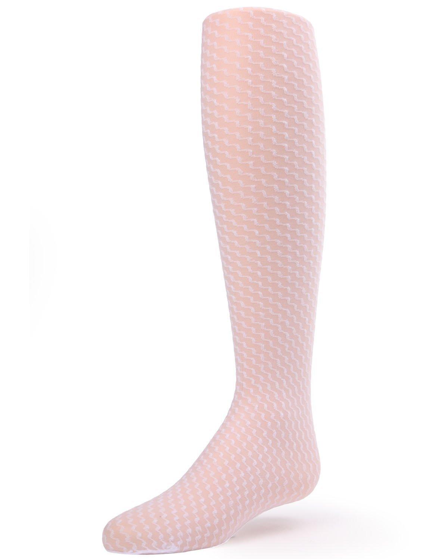 MeMoi Sheer Tights for Girls | Get Zoe Sheer Stripe Tights by MeMoi 14-Dec / White MK 801