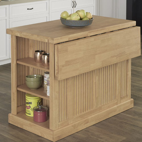 DMI Nantucket Kitchen Island With Butcher Block Top