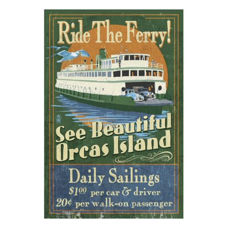 Orcas Island, Washington - Ferry Ride Print Wall Art By Lantern