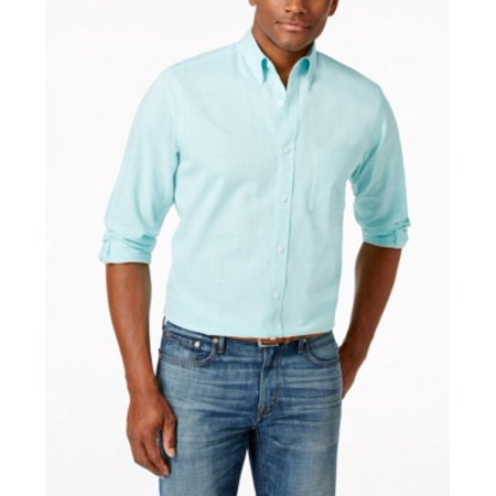 Club Room Micro-Check Button-Down Shirt Size L