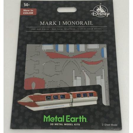 Disney Parks Mark I Monorail Colored Metal Earth Model Kit 3D Disneyland New