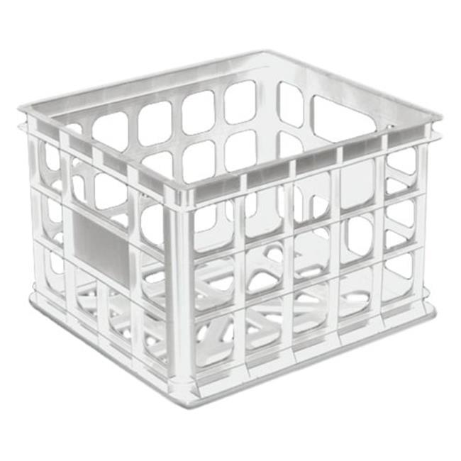 Sterilite Storage Crate White  16928006 - Pack of 6