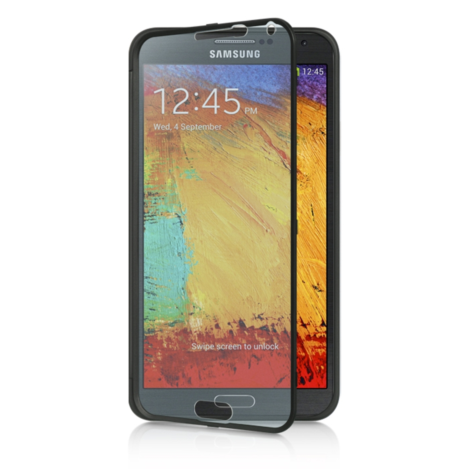 Samsung Galaxy Note 3 Case, by Insten Wrap Up Rubber TPU Case Cover With Screen Protector For Samsung Galaxy Note 3