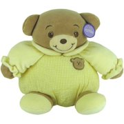 """Baby Bow Playtime Bear Yellow 11"""" by Russ Berrie"""