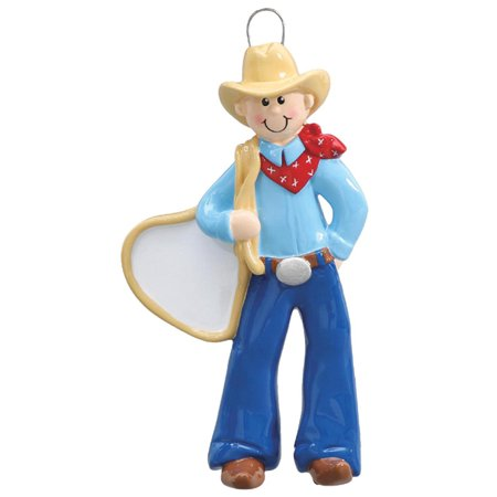 Cowboy Personalized Christmas Ornament DO-IT-YOURSELF ()