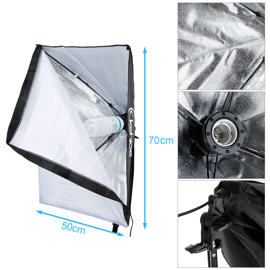 Photography Softbox Umbrella Lighting Kits Background Support 4 Light Stand Sets