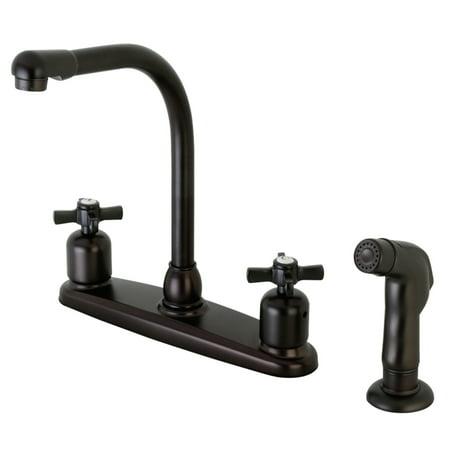 Kingston Brass FB755ZXSP Centerset Kitchen Faucet, Oil Rubbed Bronze
