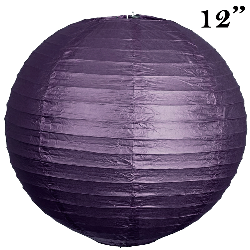 """BalsaCircle 12 pack 12"""" Paper Lanterns Lamp Shades Party Supplies - Party Wedding Event Home Room Decorations Supplies"""