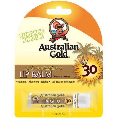 Moisturizing Lip Balm with Antioxidants Australian Gold, SPF 30, .15 oz