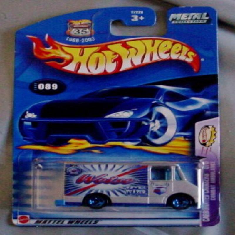 Hot Wheels 2003 Carbonated Cruisers 5/5 Combat Ambulance GRAY #89 #089