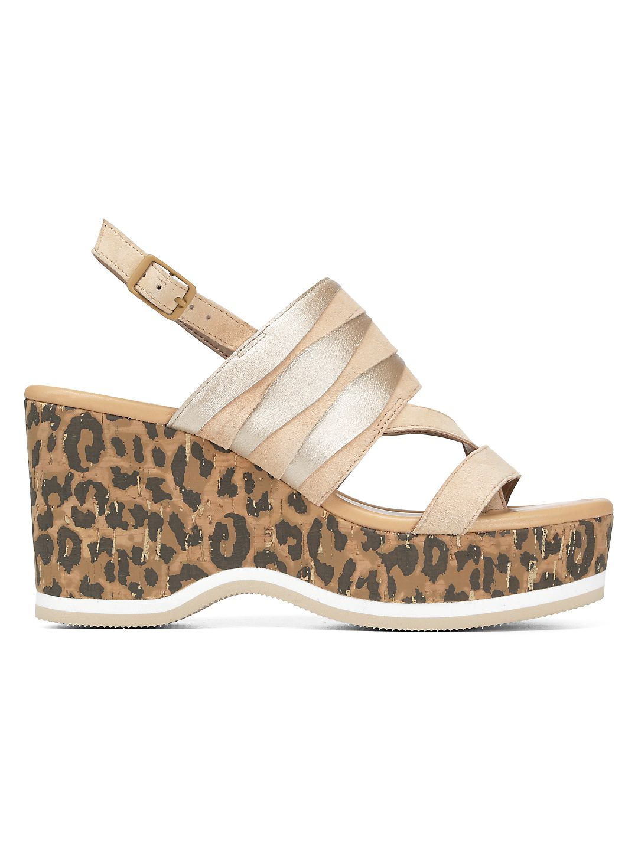 Valri Leopard-Print Leather Wedge Sandals