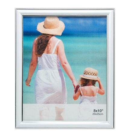 Enigma 8 In. by 10 In. Picture Frame with Silver Lining, White - Frames In Bulk