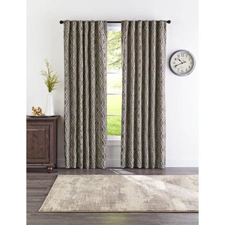 Better Homes and Gardens Gray Ogee Jacquard Window Curtain