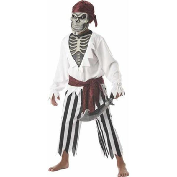 Child's Scary Skeleton Pirate Costume by