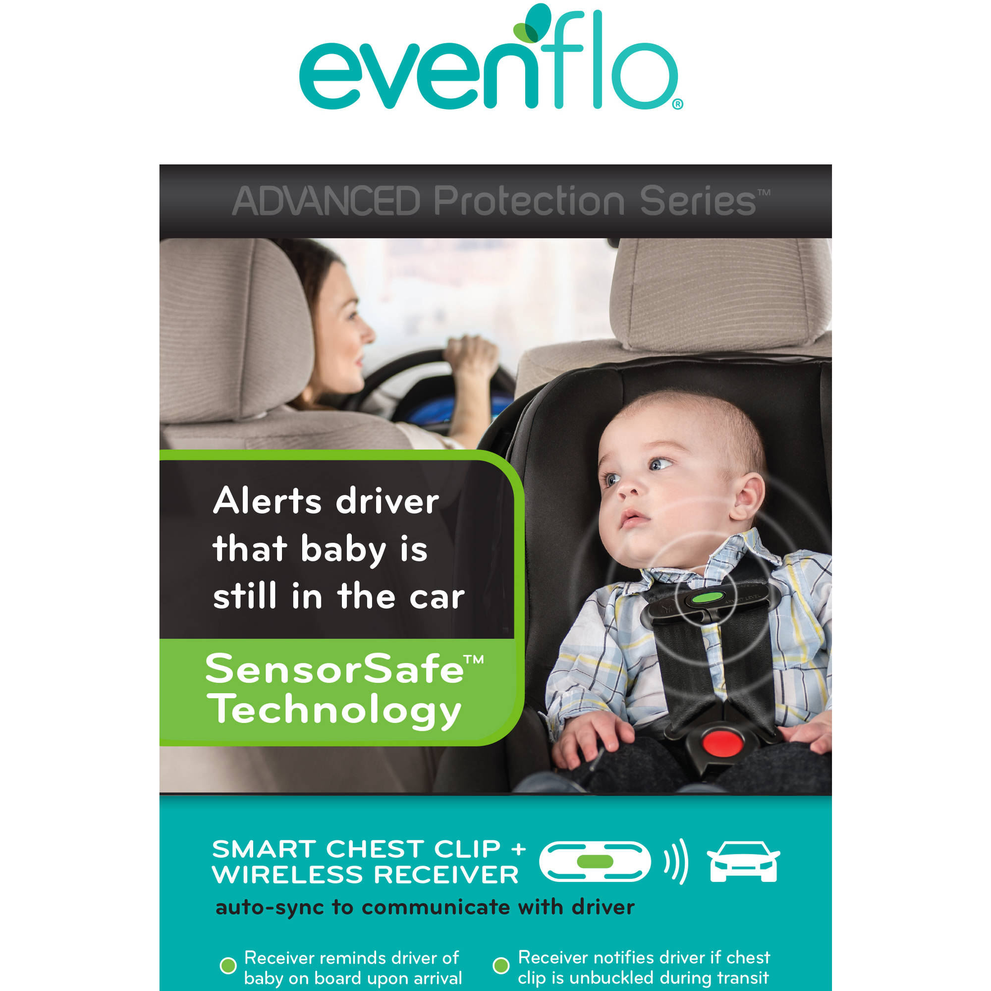 Evenflo Advanced Embrace DLX Infant Car Seat With SensorSafe Choose Your Pattern