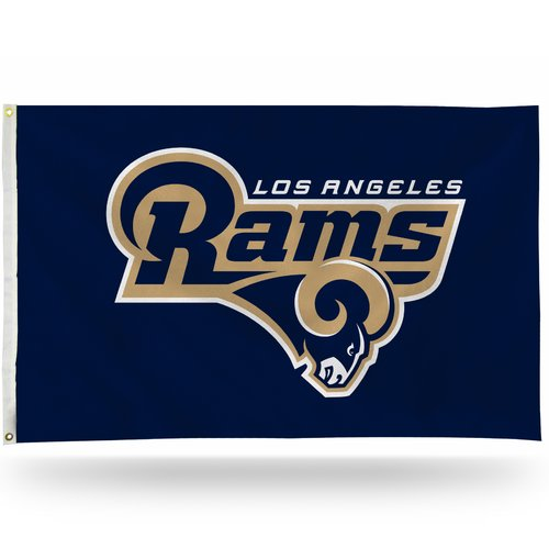 Rico Industries NFL 3' x 5' Banner Flag, Los Angeles Rams