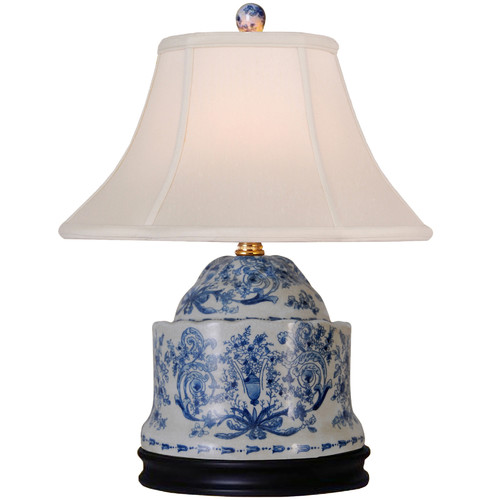 Oriental Furniture Porcelain Jar 17'' Table Lamp