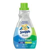 Snuggle Plus Super Fresh Liquid Fabric Softener with Odor Eliminating Technology, Original, 48.6 Fluid Ounces, 46 Loads