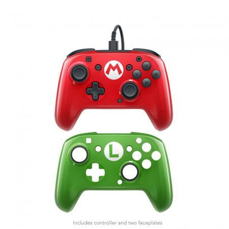 Red 10 Switch Box - PDP, Wired Faceoff Controller, Nintendo Switch, Red / Green, 500-069-NA-SM00