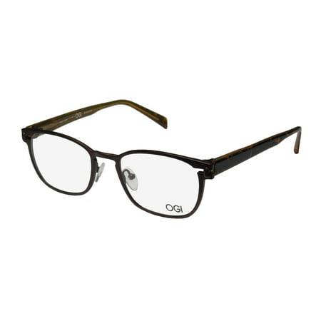 Ray Ban Tortoise Frame - New Ogi 5500 Mens/Womens Designer Full-Rim Titanium Brown / Tortoise Glamorous Hip Titanium Made In Japan Frame Demo Lenses 52-20-145 Eyeglasses/Eyeglass Frame