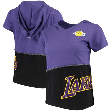 Los Angeles Lakers Refried Tees Women s Hooded V-Neck Top - Purple Black -  Walmart.com ad47b28139