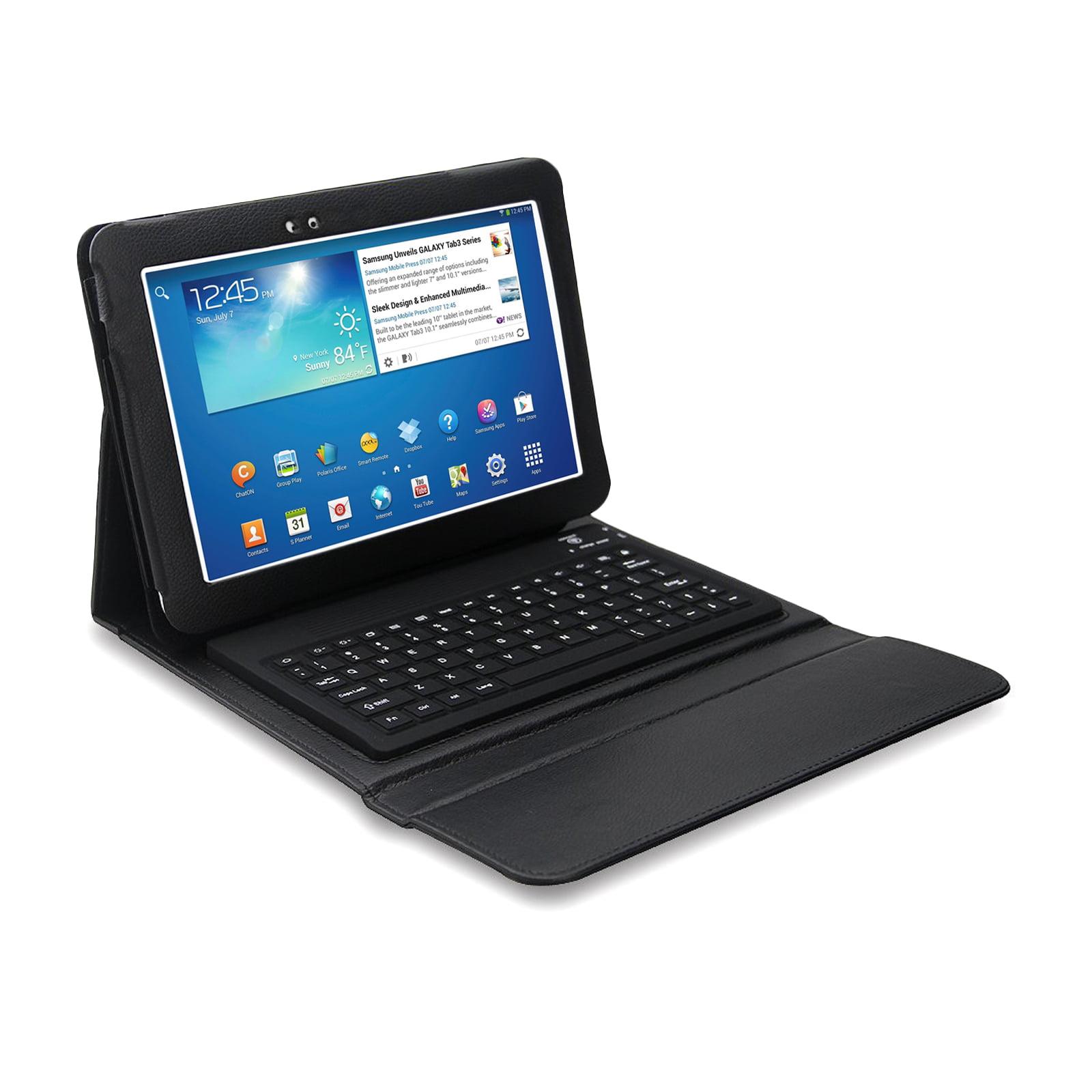 """Bluetooth Keyboard Folio for Samsung Galaxy Tab 3 10.1"""" Tablet"""