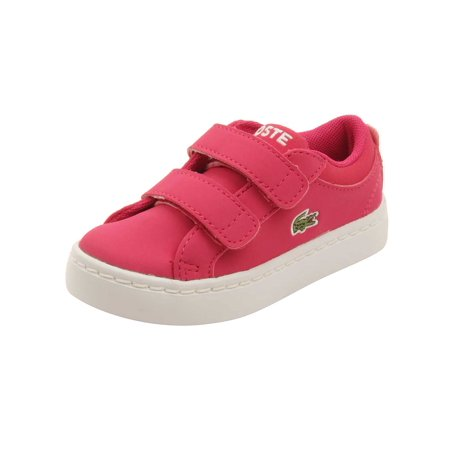 (Lacoste Infant Straightset Lace 316 Sneakers in Dark Pink)