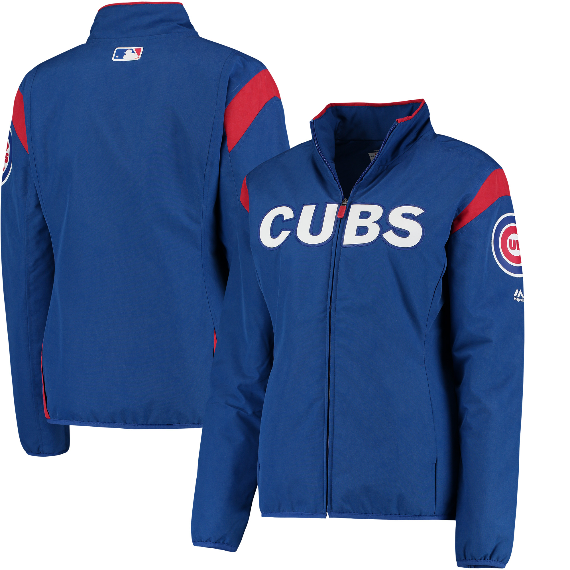 Chicago Cubs Majestic Women's On-Field Thermal Jacket - Royal