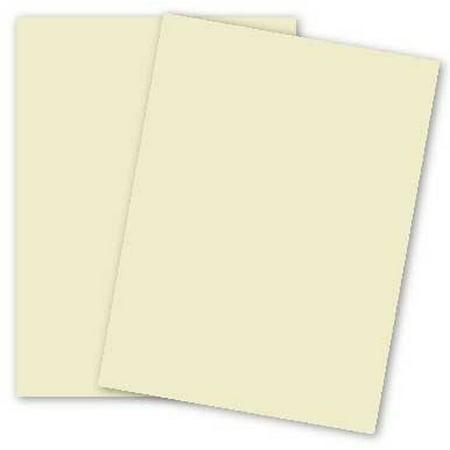 Basic 8.5 x 11 Cream Paper 80lb Text 200/Pack (70 Lb Text Paper Cream)