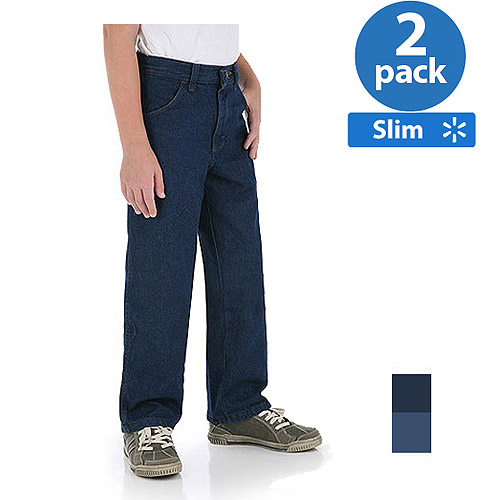 Rustler - Boys' Slim Relaxed Jean , 2 Pack