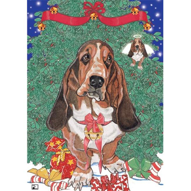 Pipsqueak Productions C489 Holiday Boxed Cards- Basset Hound