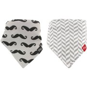 Hudson Baby Boy and Girl Bandana Bib, 2-Pack - Roses