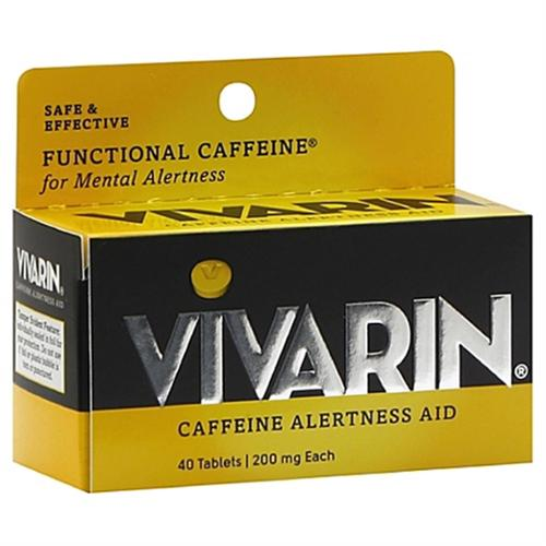 Vivarin Caffeine Alertness Aid, Tablets 40 ea (Pack of 4)