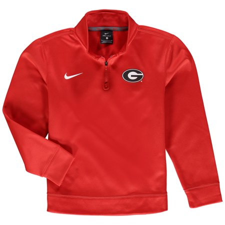 Georgia Bulldogs Nike Youth Therma Quarter-Zip Performance Jacket - (Nike Golf Therma Fit 1 2 Zip Pullover)