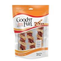 Good N Fun Triple Flavor Crunchy Spirals Long-Lasting Dog Chews, 3 Count (4.2 Oz)