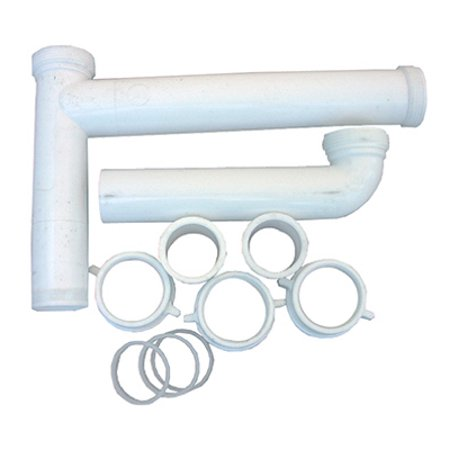 White Plastic Tubular 1 1 2 Inch X 16 Inch Telescopic