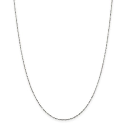 - 925 Sterling Silver 1.4mm Beveled Oval Link Cable Chain Necklace 20 Inch Pendant Charm Fine Jewelry Ideal Gifts For Women Gift Set From Heart