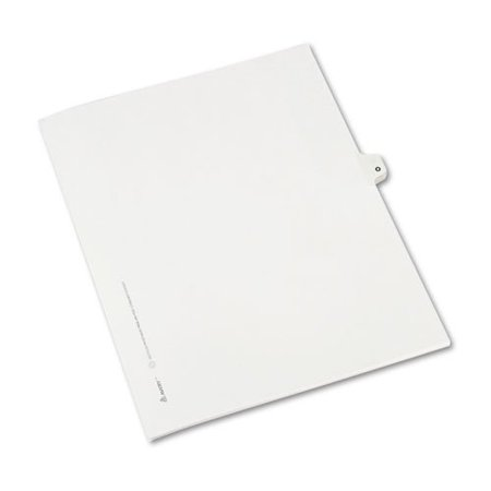 Avery(R) Avery-Style 30% Recycled Collated Legal Index Exhibit Dividers, 8 1/2in. x 11in, White Dividers/White Tabs, O, Pack Of 25 - image 1 de 2
