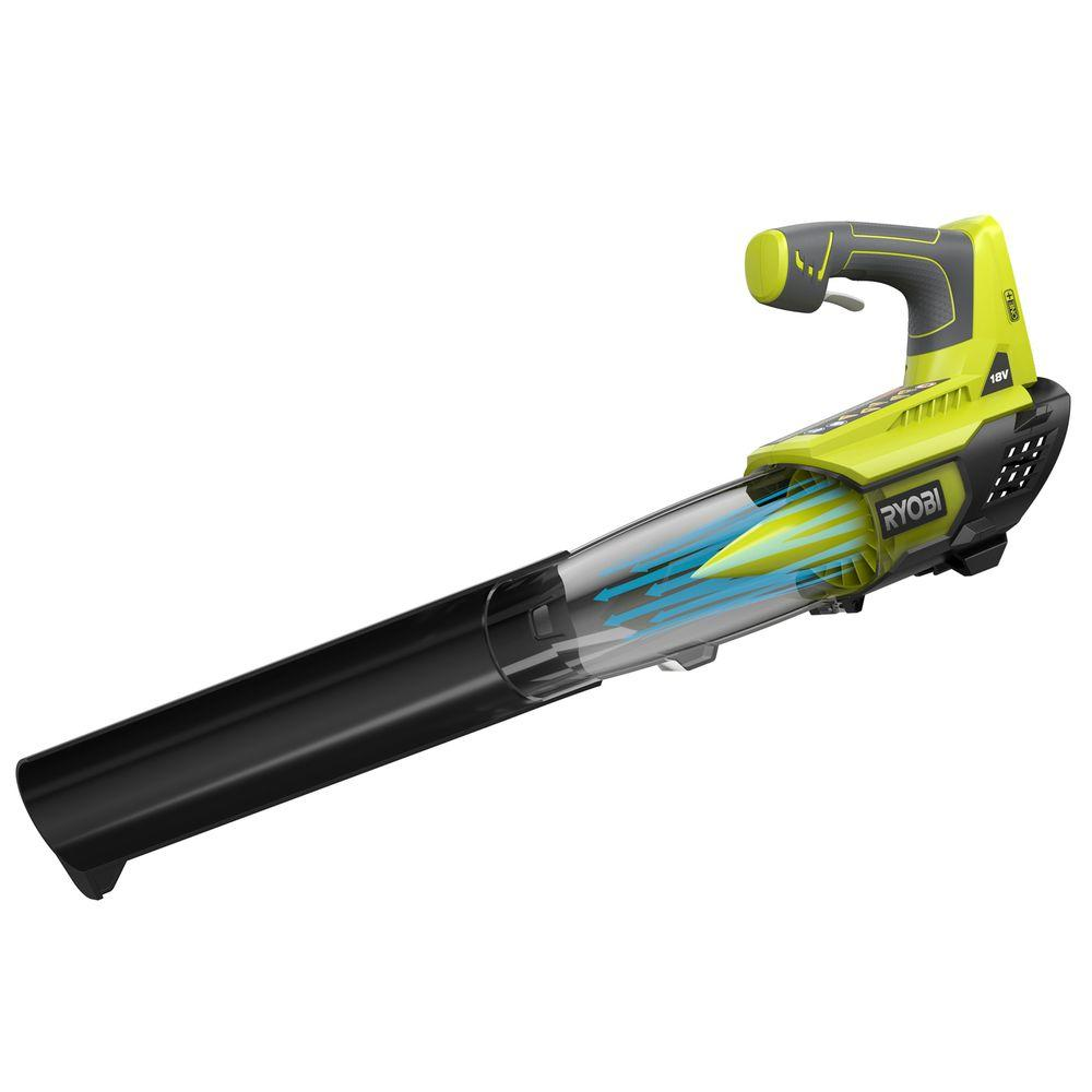 Ryobi ONE+ 100 MPH 280 CFM 18-Volt Lithium-Ion Cordless Jet Fan Leaf Blower Battery and Charger Not Included