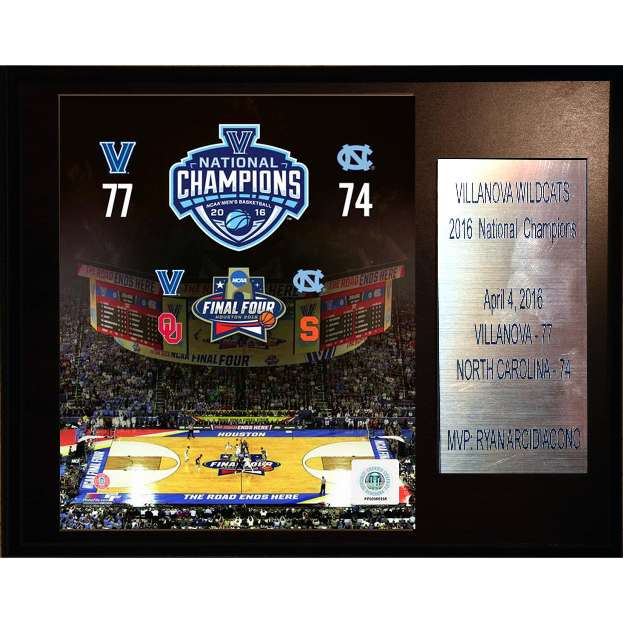C&I Collectables NCAA Basketball 12x15 Villanova Wildcats 2016 National Champions Plaque