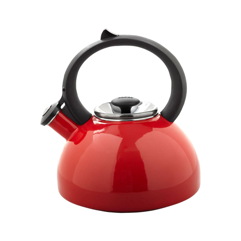 Copco Red Bellini Enamel On Steel 2-Quart Tea kettle