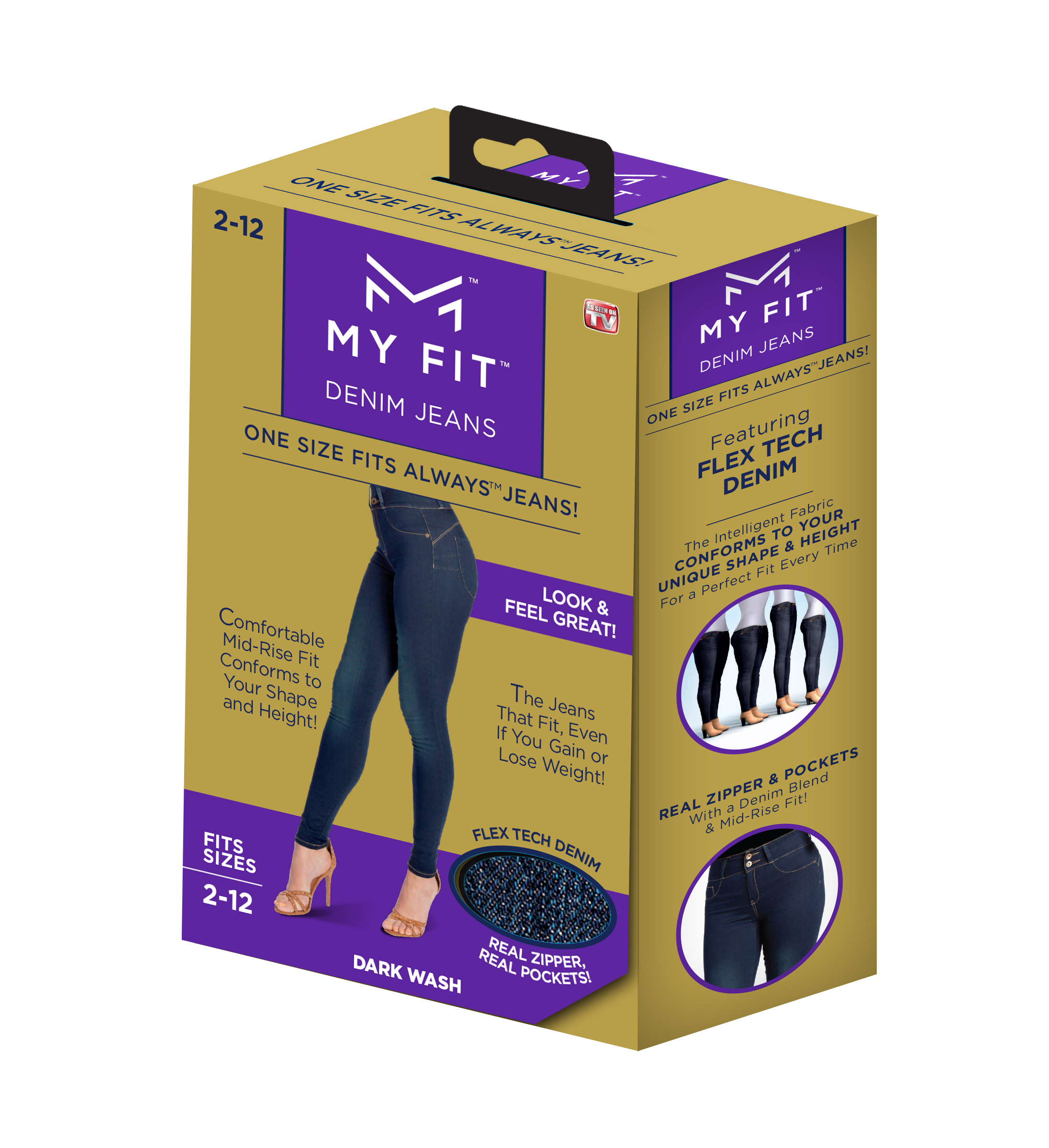 My Fit Jeans On-Trend Denim, Yoga Pant Comfort, Size 2-12 As Seen on TV