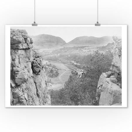 Echo Canyon Looking through Sioux Pass Photograph (9x12 Art Print, Wall Decor Travel Poster)](Sioux Shop)