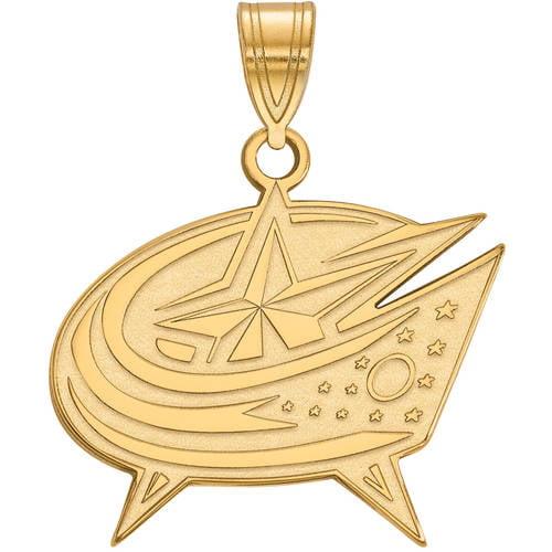 LogoArt NHL Columbus Blue Jackets 14kt Gold-Plated Sterling Silver Large Pendant