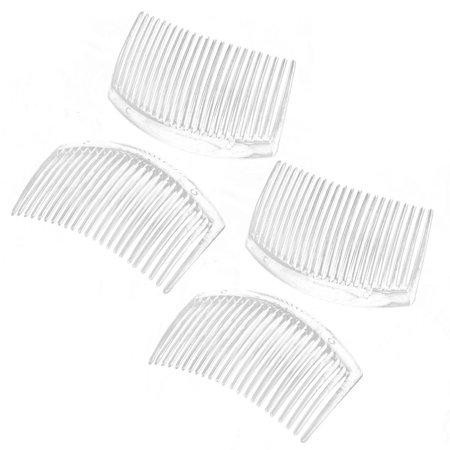 Unique BargainsLady Plastic 23 Tooth Hair Comb Clip Decor