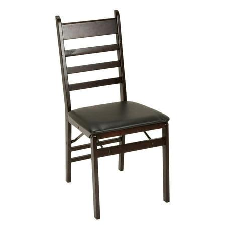 Shaker Ladder Back (Cosco Ladder Back Wood Folding Chair, Espresso/Black, Set of 2)