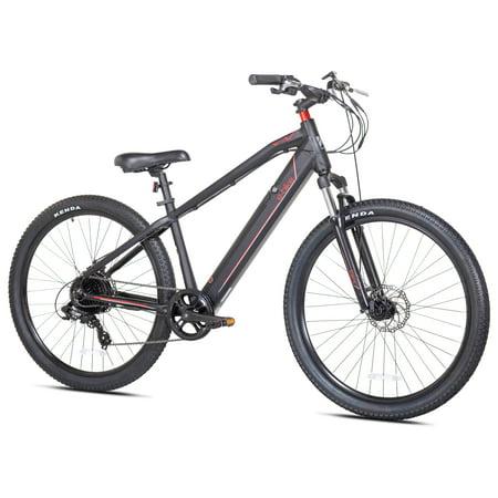 Kent Electric Pedal Assist Mountain Bike , 27.5u0022 Wheels, Black E-Bike